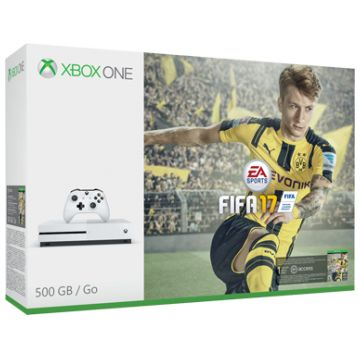 MICROSOFT Xbox One S, 500GB, FIFA 17 Bundle, White from CHF