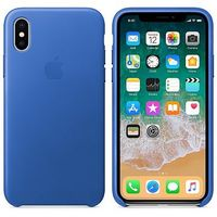 purchase cheap 5d3d6 d8021 APPLE iPhone X Leather Case, Electric Blue (MRGG2ZM/A)